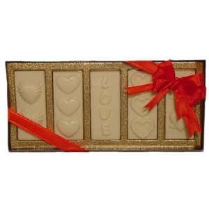Valentines Day LOVE White Belgian Chocolate  Grocery