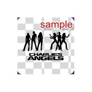 RANDOM CHARLIE ANGELS 10 WHITE VINYL DECAL STICKER