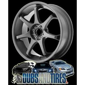 16 Inch 16x7 MOTEGI RACING wheels MR125 TITANIUM Gray