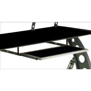 PitStop Sliding Pull Out Keyboard Tray, Black Glass