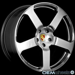 22 HYPER BLACK WHEELS FITS PORSCHE CAYENNE S GTS TURBO AUDI Q7 VW