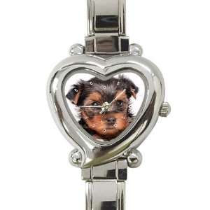 Yorkshire Terrier Puppy Dog 8 Heart Shaped Italian Charm