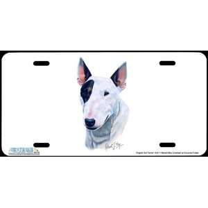 4247 English Bull Terrier Dog License Plate Car Auto Novelty Front