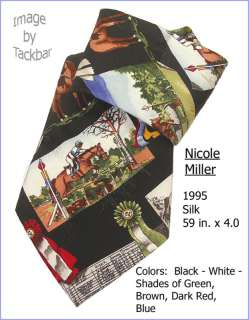 Mens Nicole Miller Horse Racing Silk Dress Tie 221