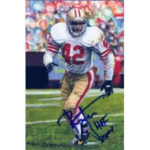 Lott Signed San Francisco 49ers Goal Line Art