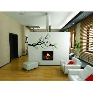 Removable Wall Decals  Tree with Birds Flowers
