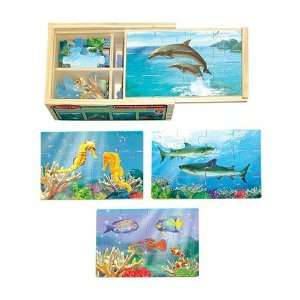 Melissa & Doug Wooden Box Puzzle Sea Life Toys & Games