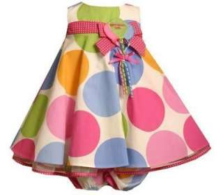 Girls Polka Dot 1st or 2nd Birthday Party Dress 12M 18M or 24M