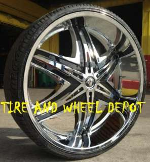 26 INCH DIABLO ELITE RIMS AND TIRES AVALANCHE ESCALADE SIERRA