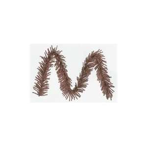 9 x 10 Sparkling Mocha Brown Tinsel Artificial Christmas