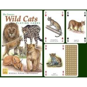 The Famous Wild Cats Playing Cards Toys & Games