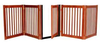 WOOD Walk Thru DOG GATE pet fence spans up to 9 ft wide