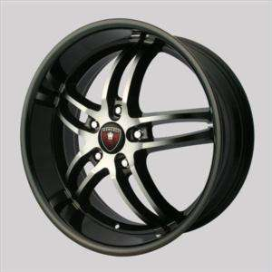 22S Merceli M16 NEW black 4 wheels rims&4 tires