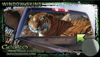 Tiger Rear Window Graphic Tint Vinyl Decal
