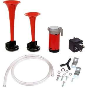 AH2C   Super Loud Dual Air Horn With Air Compressor Automotive