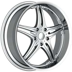 Akuza 750 22x9.5 Chrome Wheel / Rim 5x135 with a 18mm Offset and a 87
