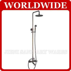 Antique Brass Wall Mounted Rain Shower Faucet Set 859
