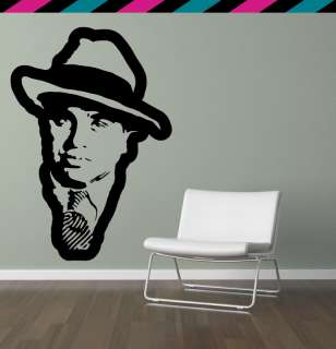 Al Capone gangster tommy gun gangsta wall decal sticker tattoo