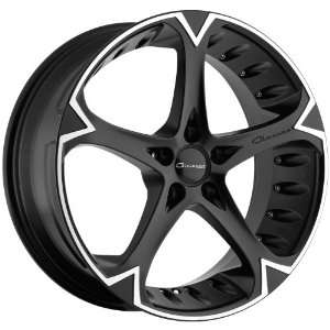 Giovanna Dalar5V Matte Black Wheel with Machined Lip (20x8