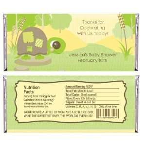 Baby Turtle   Personalized Candy Bar Wrapper Baby Shower Favors Baby