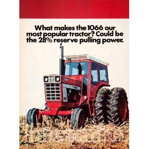 1975 Ad International Harvester 1066 Tractor Farming