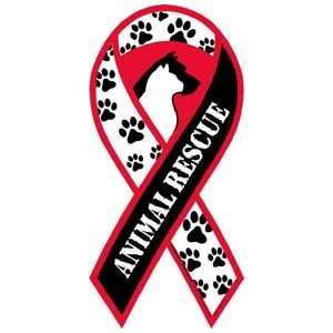 Animal Rescue Awareness Ribbon Magnet Automotive