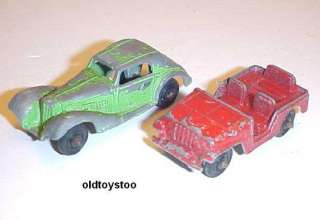 TOOTSIE TOY DIECAST CARS MERCEDES BENZ & JEEP 1960