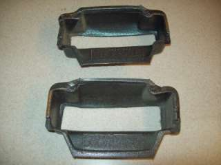 Used Jeep Wrangler TJ dash speaker baffle set. These mount inside the