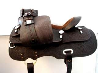 17 BROWN Western PLEASURE Trail Horse Saddle HEAVY SET