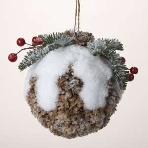Pack of 6 Pine Cone Kissing Ball Christmas Ornaments 3.5
