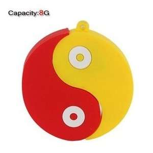 8GB Lovely Eight Trigram Shape Flash Drive(Red & Yellow