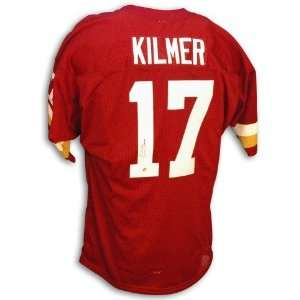 Billy Kilmer Autographed/Hand Signed Red Jersey with 72