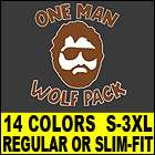 ONE MAN WOLF PACK T Shirt MENS funny vtg 80s hangover