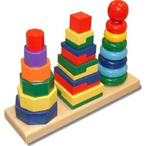 4 Pack MELISSA & DOUG GEOMETRIC STACKER