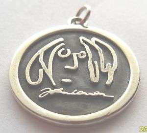 SILVER 925 BEATLES JOHN LENNON IMAGINE PENDANT Necklace