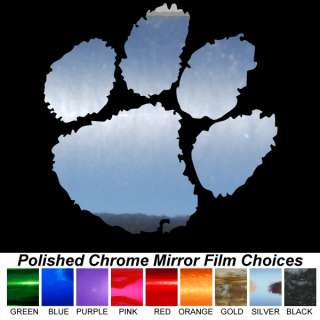 Clemson Tigers Paw Rare Chrome Film Colors 16 inch Auto Car Window