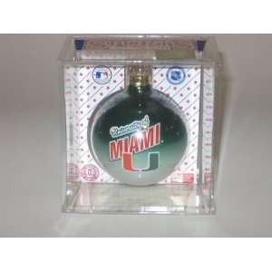 MIAMI HURRICANES (2 5/8 In Diameter) Multi Color CHRISTMAS ORNAMENT