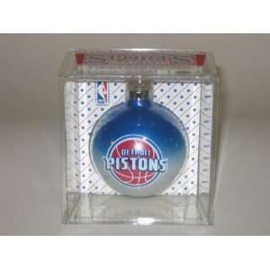 DETROIT PISTONS (2 5/8 In Diameter) Multi Color CHRISTMAS