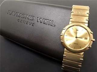 RAYMOND WEIL Coliseum Gold Plate Watch 1 yr warranty