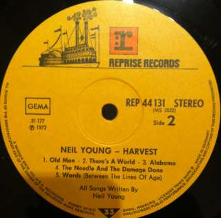 NEIL YOUNG harvest LP 1972 German 1st VG+ RL Ludwig