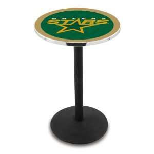 42 Dallas Stars Bar Height Pub Table   Round Base  Sports