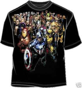 MARVEL Comic Hero T Shirt Tee NEW Top Heavy Black (MEN)