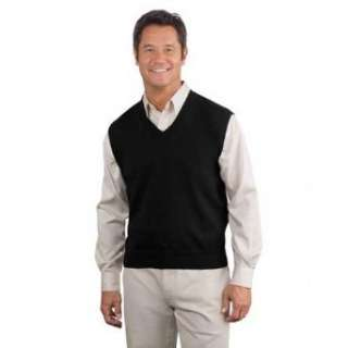 Port Authority, Fine Gauge V Neck Sweater Vest Clothing