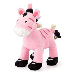 Taggies Zoey Zebra Soft Toy, Pink Baby