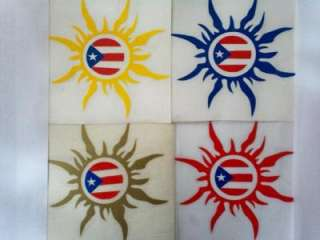 Puerto Rico Tribal Sun Flag Decal Stickers Souvenirs