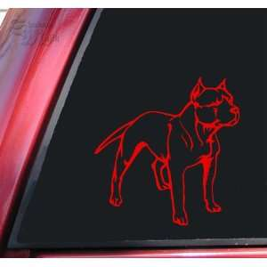 Pit Bull / Pitbull Full Body Vinyl Decal Sticker   Red