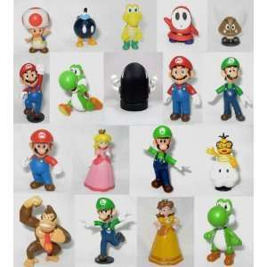 18 pcs Nintendo Super Mario Bros Action Figure