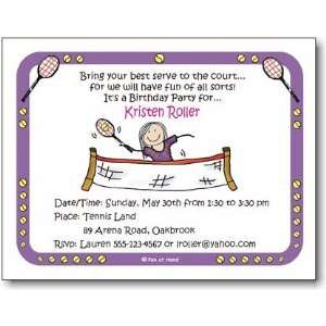 Pen At Hand Stick Figures   Invitations   Tennis   Girl