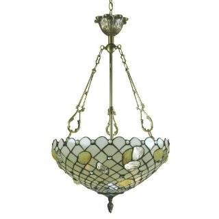 Dale Tiffany 8755/3LTH Shell/Scallop Hanging Light Fixture, Antique