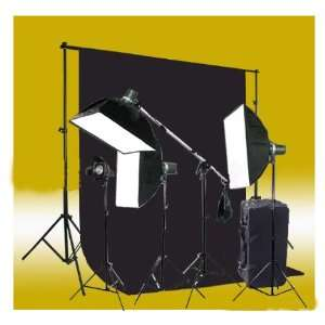 Monolight Strobe Flash Boom Kit   4 Studio Flash/Strobe, 3 Softboxes